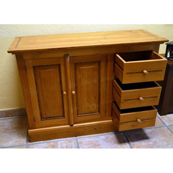 Aparador 2 puertas 3 cajones sabaia compra online mueble for Liquidacion muebles online